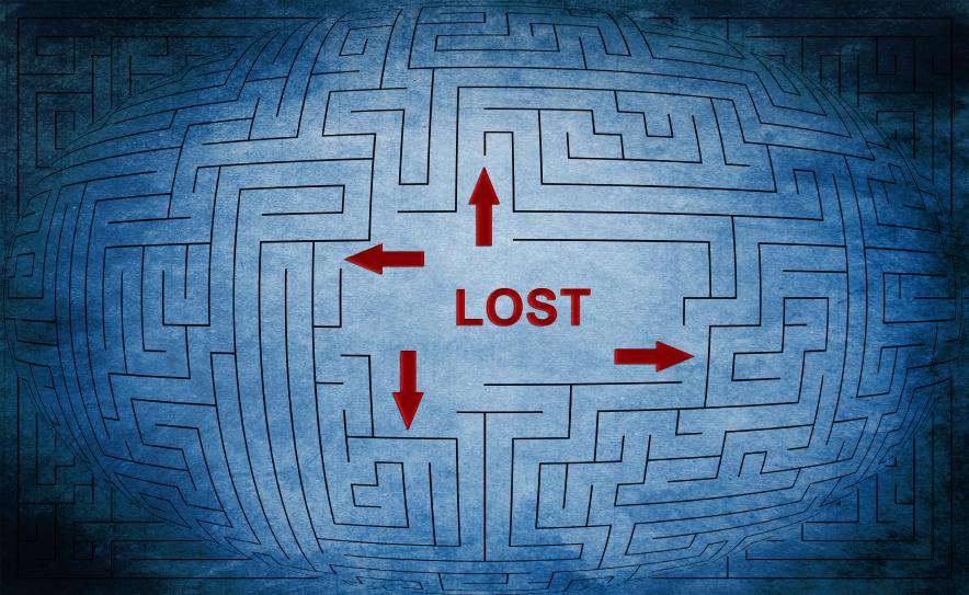 Lost maze concept